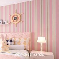 3D 壁紙 53×1000㎝ 子供部屋 ストライプ DIY 不織布 カビ対策 防湿 防水 吸音 インテリア 寝室 リビング h02017