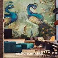 3D 壁紙 1ピース 1㎡ 孔雀 ピーコック 防カビ 耐水 おしゃれ クロス インテリア 装飾 寝室 リビング h01793