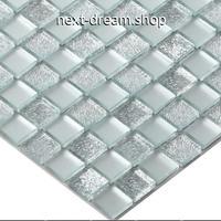 3D壁紙 30×30cm 11枚セット クリスタルガラス シルバーホワイト DIY リフォーム インテリア 部屋/浴室/トイレにも h04454