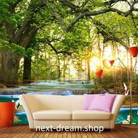 3D 壁紙 1ピース 1㎡ 自然風景 森林 木々 鶴 小川 インテリア 装飾 寝室 リビング h02246