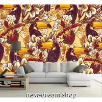3D 壁紙 1ピース 1㎡ 鳥 トゥカン 南国 インテリア装飾 寝室 リビング 客室 豪華  アートm03302