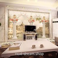 3D 壁紙 1ピース 1㎡ 油絵風 ローマの街 天使 薔薇 インテリア 部屋装飾 耐水 防湿 防音 h02987