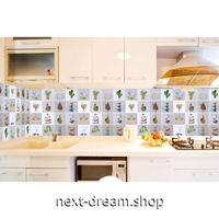 ウォールステッカー 壁紙 60cm×5m 防水 防油 タイル サボテン 家具リフォーム キッチン・浴室・古いドアに m02700