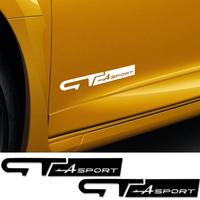 ルノー クリオ ステッカー ドアサイド GTスポーツ ロゴ デカール Clio R.S Twingo Megane ユニバーサル h00186