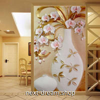 3D 壁紙 玄関用 1ピース 1㎡ 黄金 花瓶 インテリア 装飾 部屋 耐水 防湿 耐衝撃 騒音吸収 h02715