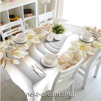 テーブルクロス 140×180cm 4人掛けテーブル用 ヨーロッパ 白 フラワー 防水 おしゃれな食卓 汚れや傷みの防止 m04245