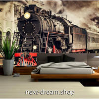 3D 壁紙 1ピース 1㎡ ノスタルジック 列車 ストリートビュー 機関車 寝室 リビング 客室 m03305