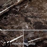 壁紙 60×1000cm 大理石 マーブル模様 明るめの黒 DIY リフォーム インテリア 部屋/キッチン/家具にも 防水ビニール h03889