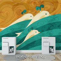 カスタム3D壁紙 1ピース 1㎡ クジラ アニメ風 アート おうち時間充実 子供部屋 キッチン 寝室 リビング m03534