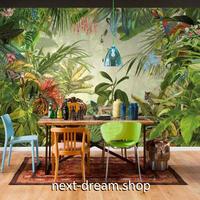 3D 壁紙 1ピース 1㎡ 熱帯雨林 絵画デザイン バナナの葉 ジャングル インテリア 装飾 寝室 リビング h02312