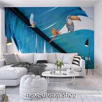 3D 壁紙 1ピース 1㎡ 羽 オウム 写真 青色 トゥカン 可愛い おしゃれ キッチン 寝室 客室 m03373