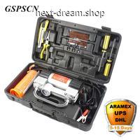車セット 空気圧縮機12V ツールボックス 道具箱 ダブルシリンダー 新品送料込 m00330