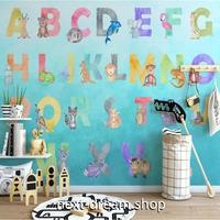 カスタム3D壁紙 1ピース 1㎡ ABC... 英語の勉強 アルファベット おうち時間充実 子供部屋 キッチン 寝室 リビング m03533