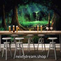 3D 壁紙 1ピース 1㎡ 絵画デザイン 月の光 夜の森  インテリア 装飾 寝室 リビング 耐水 防湿 h02555