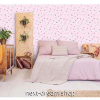 【ウォールステッカー】 3D 壁紙  45×1000cm 花柄 ドット 蝶 ピンク 女の子 DIY 寝室 リビング 子供部屋 インテリア m02422