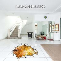 【ウォールステッカー】壁紙 DIY 部屋 シール 寝室 リビング インテリア 40×60cm 壁穴デザイン 紅葉 自然風景 m02325