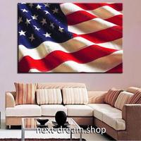 【お洒落な壁掛けアートパネル】 枠付き 40×60cm アメリカ国旗 自由の国 USA 絵画 部屋 インテリア m06341