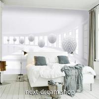 3D 壁紙 1ピース 1㎡ 北欧モダン ヨーロッパ 奥行きのある立体デザイン 白 球体 リビング 寝室 客室 m03357