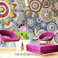 3D 壁紙 1ピース 1㎡ トルコモザイク カラフル エスニック インテリア 部屋装飾 耐水 防湿 防音 h02953