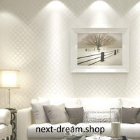 3D 壁紙 53×1000㎝ モダン チェック柄 格子 DIY 不織布 カビ対策 防湿 防水 吸音 インテリア 寝室 リビング h01958