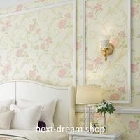 3D 壁紙 53×1000㎝ ヨーロッパデザイン 花柄 DIY 不織布 カビ対策 防湿 防水 吸音 インテリア 寝室 リビング h02021