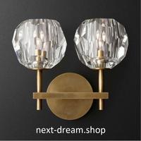 ウォールライト 照明 LED クリスタル×2 壁掛け ダイニング リビング キッチン 部屋 寝室 北欧デザイン モダン h01485