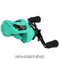 新品 ベイトリール 釣り道具 フィッシング 金属ボディ ベアリング 6.3: 1 黒×緑 右ハンドル 左ハンドル m01925