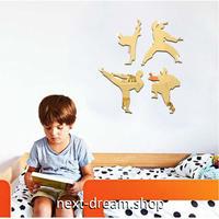 【ウォールステッカー】壁紙 DIY 部屋 装飾 寝室 リビング インテリア 18×20cm アクリルミラー 空手 シルエット m02255