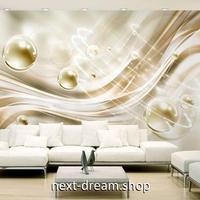 3D 壁紙 1ピース 1㎡ アートデザイン ゴールド 泡 インテリア 部屋 寝室 リビング 防湿 防音 h03020
