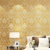 3D 壁紙 53×1000㎝ 花柄 ダマスク柄 DIY 不織布 カビ対策 防湿 防水 吸音 インテリア 寝室 リビング h01982
