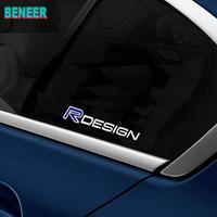 ボルボ  ステッカー ウィンドウ シール ガラス 窓 2個入 R DESIGN ロゴ Volvo h00577