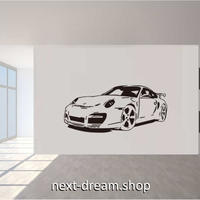 【ウォールステッカー】壁紙 DIY 部屋装飾 寝室 リビング インテリア 黒 ブラック 40×85cm 車 スポーツカー m02162