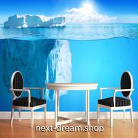 3D 壁紙 1ピース 1㎡ 自然風景 南極の海の景色 流氷 インテリア 装飾 寝室 リビング 耐水 防カビ h02386