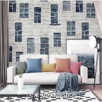 3D 壁紙 1ピース 1㎡ ヨーロッパスタイル 手書き 壁と窓 英語ロゴ 可愛い おしゃれ キッチン 寝室 客室 m03369