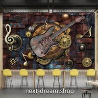 3D 壁紙 1ピース 1㎡ ロック ROCK ギター 音符 音楽 インテリア 部屋装飾 耐水 防湿 防音 h02859