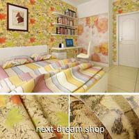 壁紙 45cm×1000cm もみじ柄 紅葉 メープルの葉 DIY リフォーム インテリア 子供部屋 寝室 防湿 防音 h03608