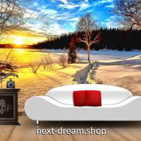 3D 壁紙 1ピース 1㎡ 自然風景 雪景色 日の出 インテリア 装飾 寝室 リビング 耐水 防カビ h02376
