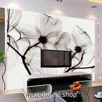 3D 壁紙 1ピース 1㎡ 北欧モダン 花 モノクロ インテリア 部屋装飾 耐水 防湿 防音 h02823
