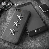 iPhoneケース 黒×銀 星型 スタッズケース iPhone6/6s/7/8/Plus