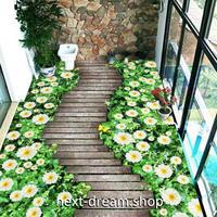 3D 壁紙 1ピース 1㎡ 床用 庭 花 木の板 DIY リフォーム インテリア 部屋 寝室 防湿 防音 h03422