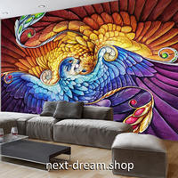 3D 壁紙 1ピース 1㎡ 油絵 フェニックス 鳳凰 インテリア 装飾 寝室 リビング 耐水 防湿 h02604