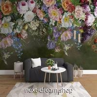 3D 壁紙 1ピース 1㎡ ヨーロッパレトロ 花 薔薇 インテリア 部屋装飾 耐水 防湿 防音 h02806