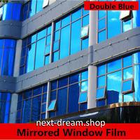 マジックミラー機能 ウィンドウフィルム 152×500cm 大きいサイズ ロイヤルブルー 紫外線・UV・日射ブロック スモーク m03055