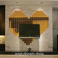 ☆インテリア3Dステッカー☆ スクエア型 2cm 500個セット 金色 壁用 アクリルシール デコ素材 DIY 店舗 m05615