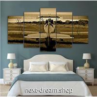 【お洒落な壁掛けアートパネル】 5点セット ヴィンテージ 航空機 写真 セピア 絵画 ファブリックパネル インテリア m04764