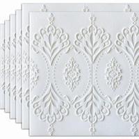 【3D壁紙ステッカー】 70×70cm 厚さ7ミリ 10枚セット 3D ヨーロッパデザイン 白 接着剤付 部屋 ゲストルーム 傷防止 m04214