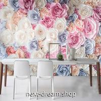 3D 壁紙 1ピース 1㎡ 北欧モダン 花 薔薇 ローズ インテリア 部屋 寝室 リビング 防湿 防音 h03050
