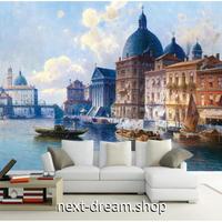 3D 壁紙 1ピース 1㎡ ヨーロッパの街並み ヴェネツィア ゴンドラ 水上都市 寝室 リビング 客室 m03333