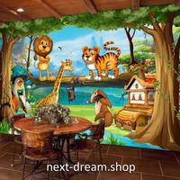3D 壁紙 1ピース 1㎡ 子供部屋 森の動物たち アニメ画 インテリア 装飾 寝室 リビング 耐水 防湿 h02506