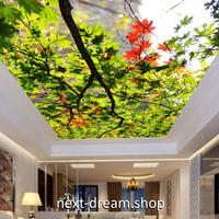 3D 壁紙 1ピース 1㎡ 自然風景 楓の葉 紅葉 和 天井用 インテリア 装飾 寝室 リビング 耐水 防湿 h02680